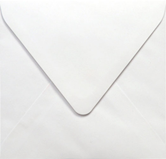 160mm Square Envelopes 100gsm - White Pk 20