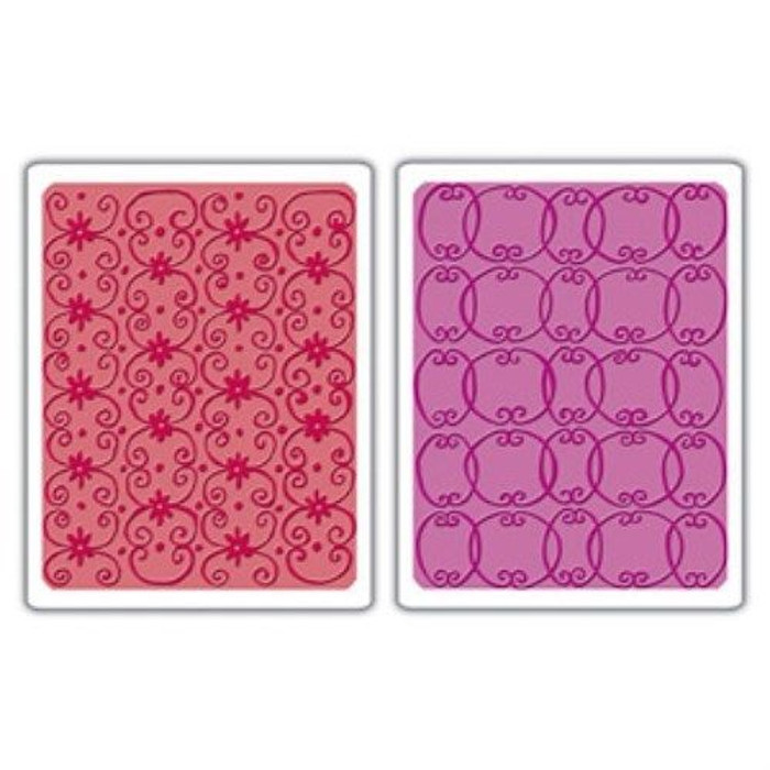Sizzix Textured Impressions Embossing Folders FLOWER VINE & TWIZZLE SET
