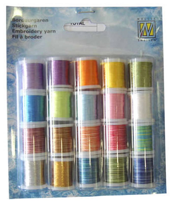 Nellie Snellen Card Embroidery Thread  Set 003 - 20 Spools