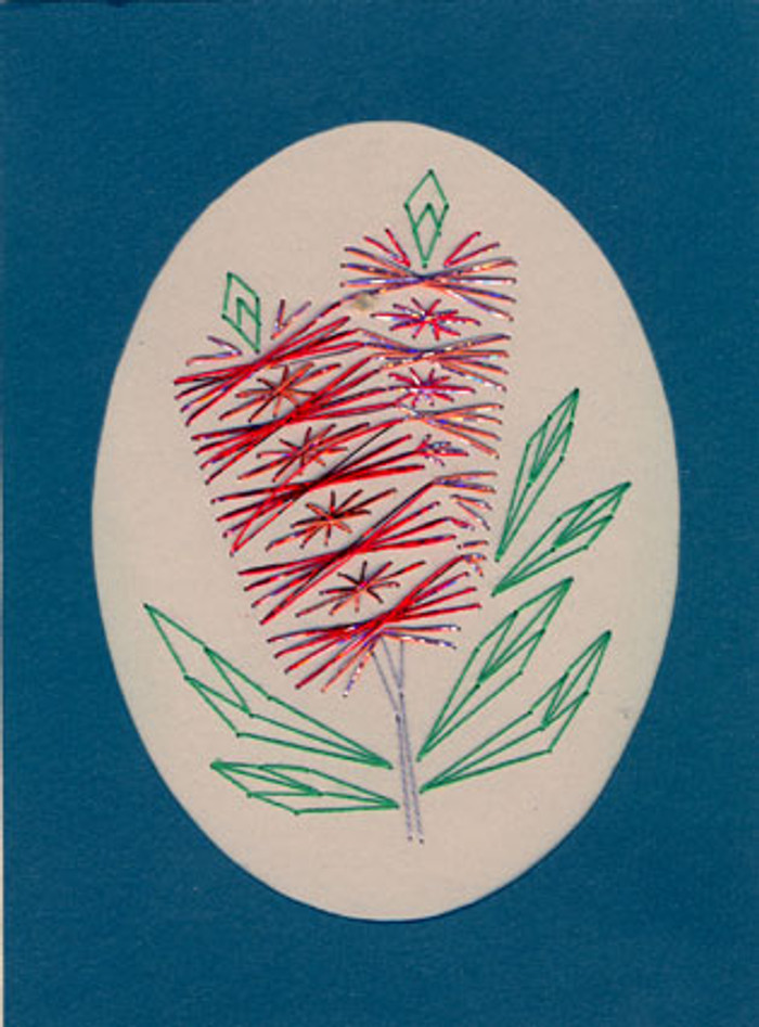 Stitch-a-Card e-Pattern Booklet - Red Callistemon