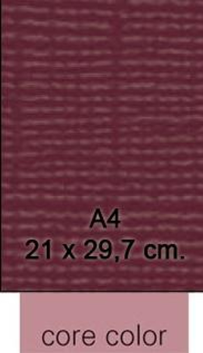 ColorCore Card A4 - Burgundy