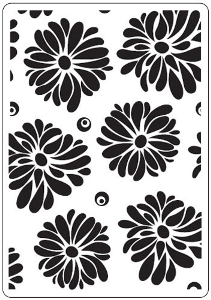 Crafts-Too Embossing Folder - FLOWERS