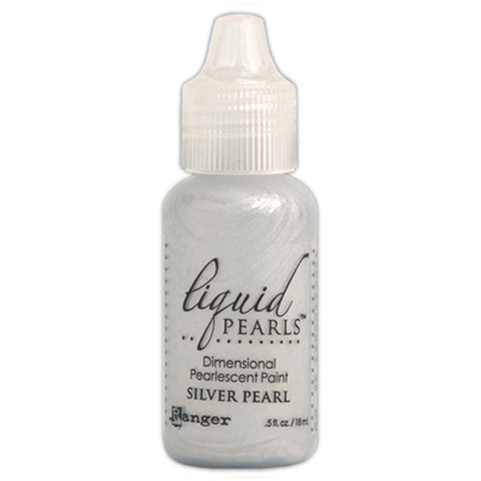 Ranger Liquid Pearls Pearlescent Dimensional Paint - Silver Pearl 14.5ml