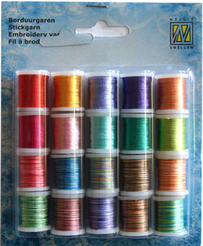 Nellie Snellen Card Embroidery Thread  Set 005 - 20 Spools