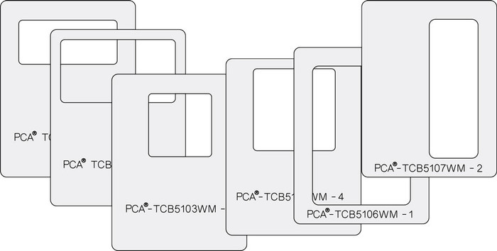 PCA Small Window Makers Set of 6 - Squares & Rectangles - A  TCB5100WMA