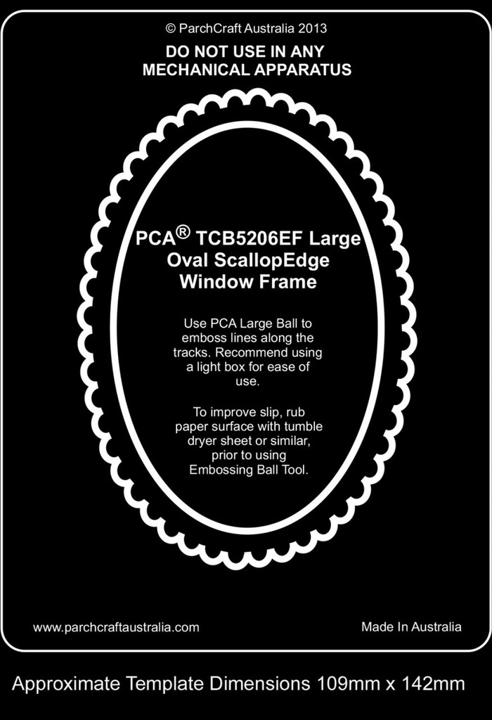 PCA WINDOW FRAMES - Large Oval with ScallopEdge  TCB5206EF