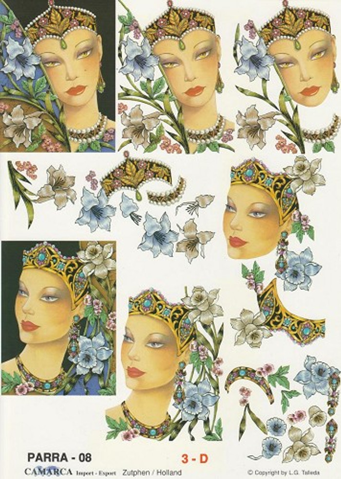 3D Sheet Camarca - Womens Faces
