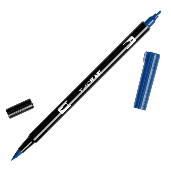 Tombow Dual Brush Marker - Navy Blue 528