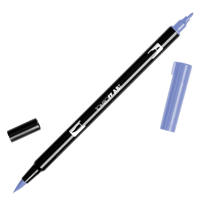 Tombow Dual Brush Marker - Periwinkle 603