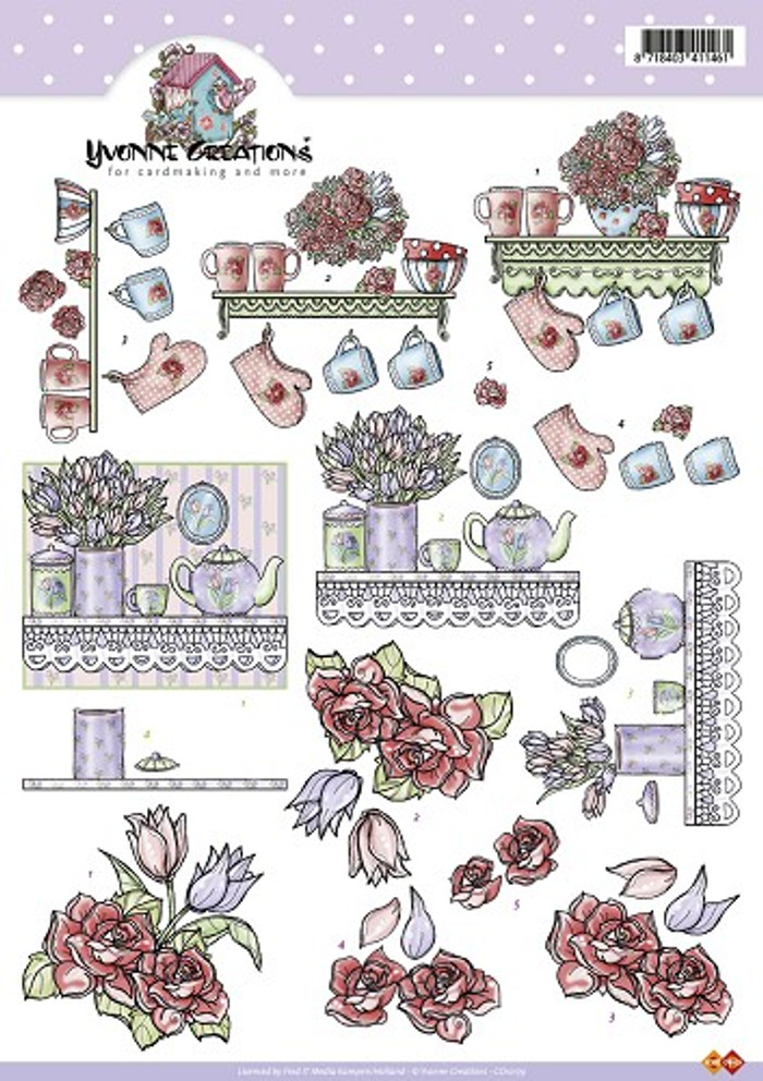 3D Sheet Yvonne's Creations  - Kitchen CD10179