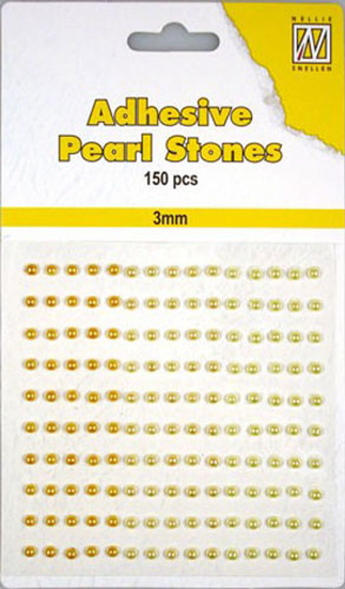 Nellie Snellen Self-Adhesive Pearls - 150 x 3mm - 3 Shades of Yellow/Gold
