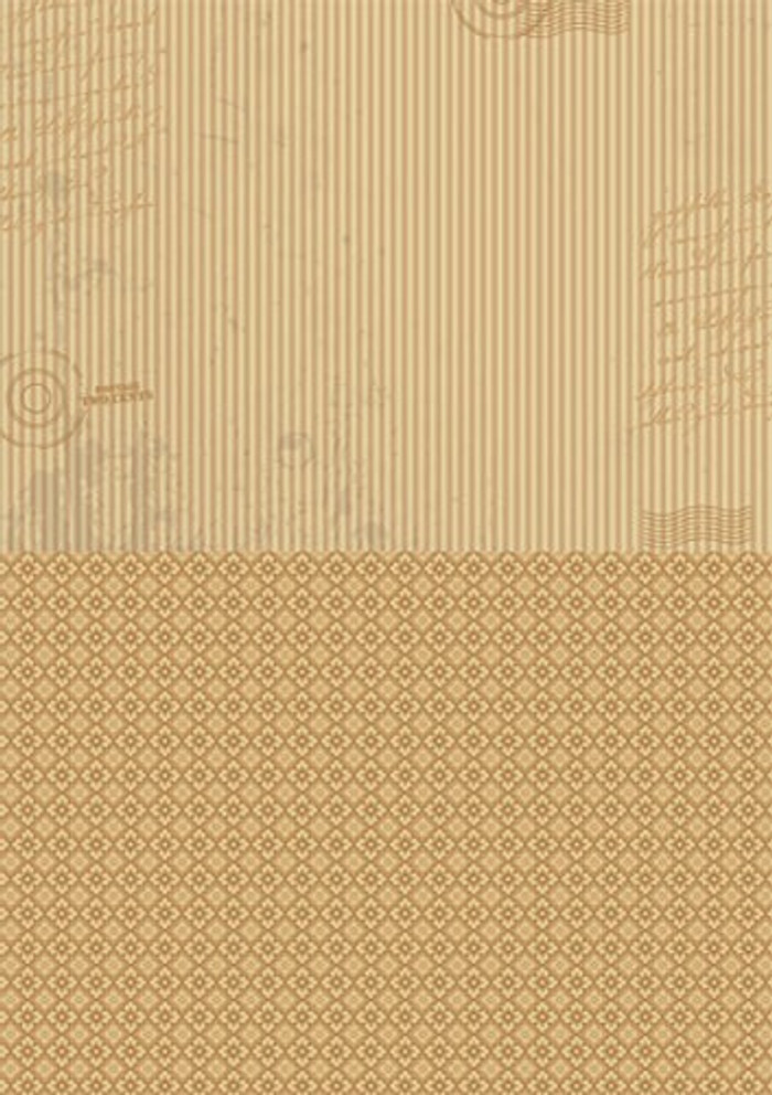 A4 Double-Sided Paper - Brown Stripes - Single Sheet