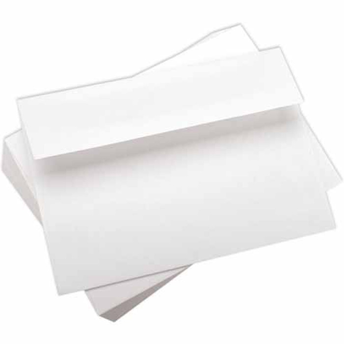 "A7 Envelopes -  133.3mm x 184mm (5.25"" x 7.25"") - WHITE Smooth 25Pk 90gsm"