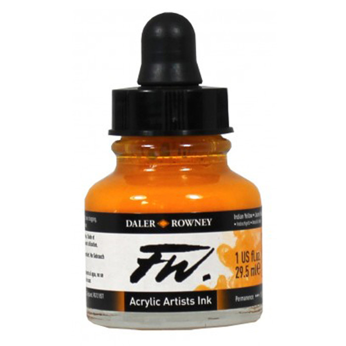 FW Artist Quality Inks 29.5ml - Indian Yellow