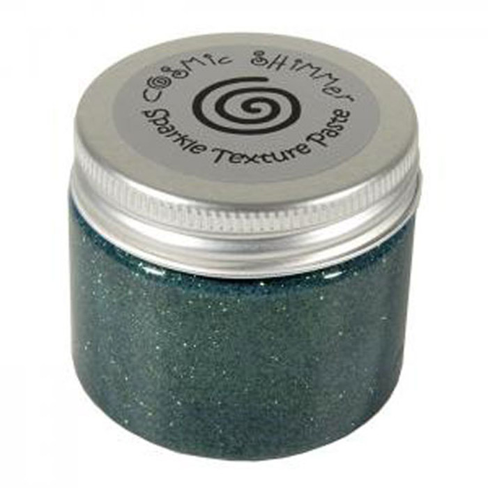 Cosmic Shimmer Sparkle Texture Paste 50ml Pot - HOLLY GREEN