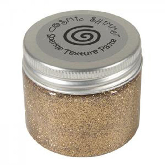 Cosmic Shimmer Sparkle Texture Paste 50ml Pot - WARM GOLD