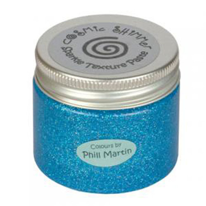 Cosmic Shimmer Sparkle Texture Paste 50ml Pot - GRACEFUL BLUE