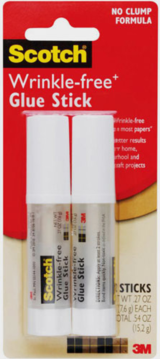 Scotch Wrinkle-Free Glue Sticks 2 Pack 7.6gm