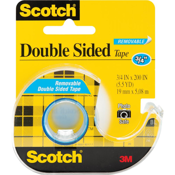 "Scotch Removable Double-Sided Tape 19mm x 7.6m (3/4"" x 8.3yd)"