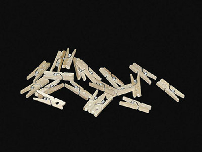 Mini Pegs 2cm  Natural - Pack of 20