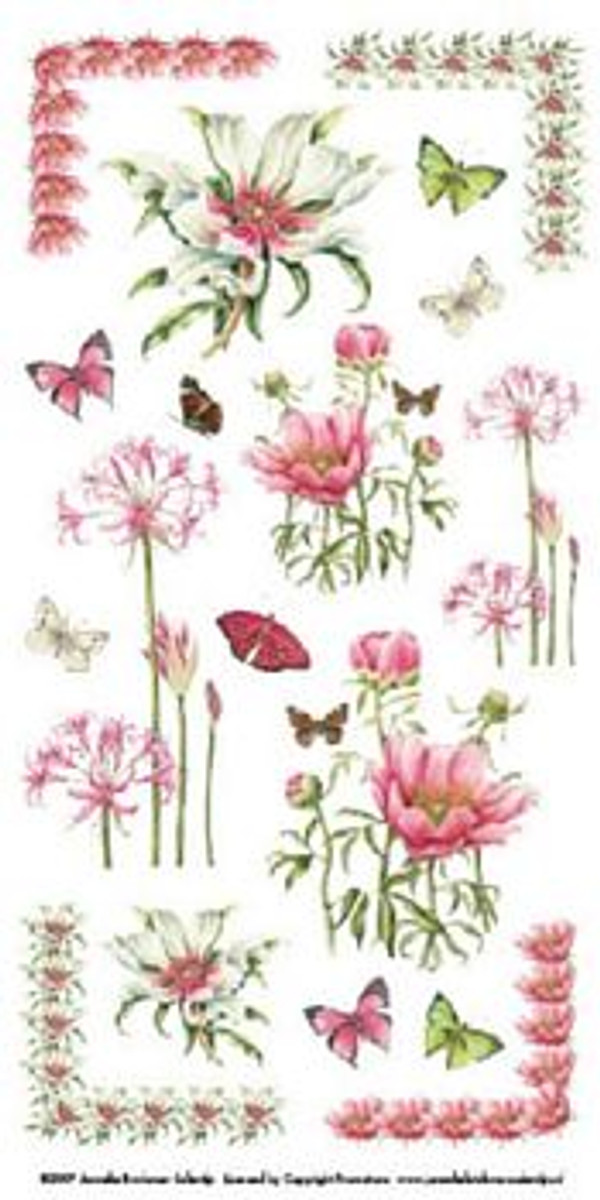 Janneke Brinkman Rub-On Transfers - Flowers 4