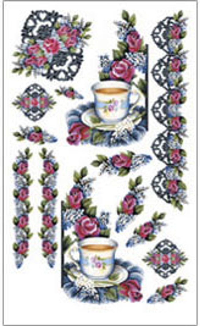 E-Z  Rub-On Transfers - Teacup  FIT217
