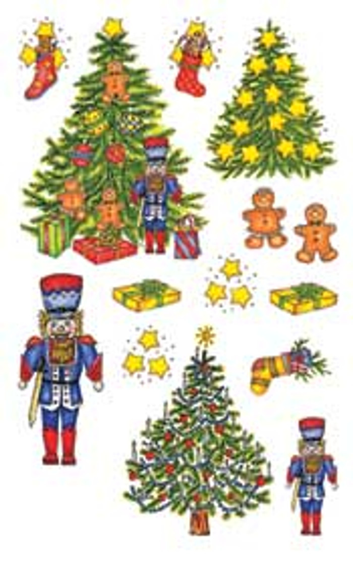 E-Z  Rub-On Transfers - Cristmas Trees  GRE321G