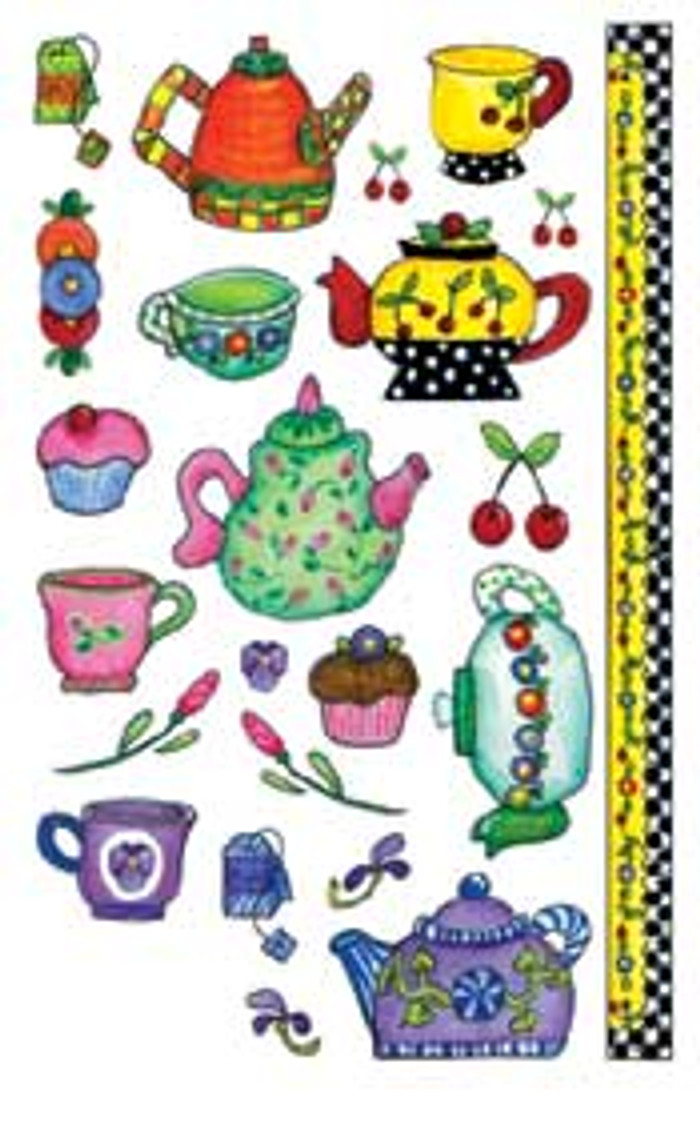 E-Z  Rub-On Transfers - Little Teapots  EDW328