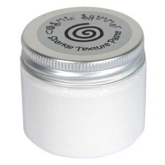 Cosmic Shimmer Sparkle Texture Paste 50ml Pot - POLAR WHITE