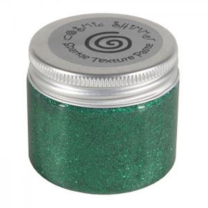 Cosmic Shimmer Sparkle Texture Paste 50ml Pot - EMERALD