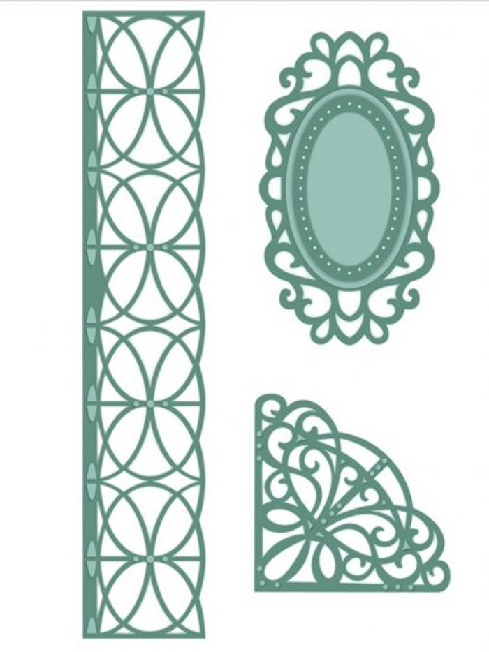 Sue Wilson - The Austrian Collection - Corner, Border & Tags Dies CED2202 - 15% Off