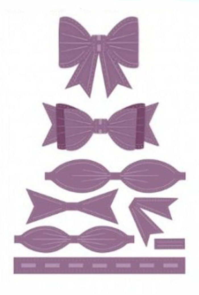 Sue Wilson - The Finishing Touches Collection - Filigree 3D Bow Dies CED1406 - Pre-Order 15% Off