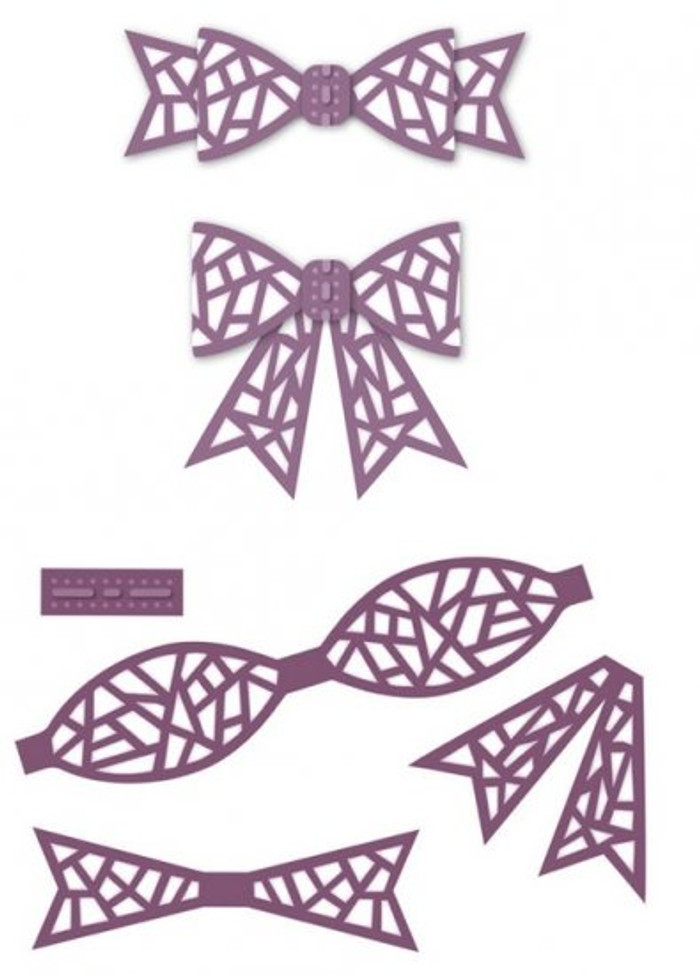 Sue Wilson - The Finishing Touches Collection - Dotty 3D Itty Bitty Bow Dies CED1409 - Pre-Order 15% Off
