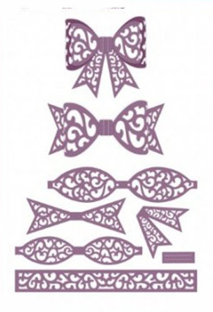 Sue Wilson - The Finishing Touches Collection - Filigree 3D Itty Bitty Bow Dies CED1411 - Pre-Order 15% Off