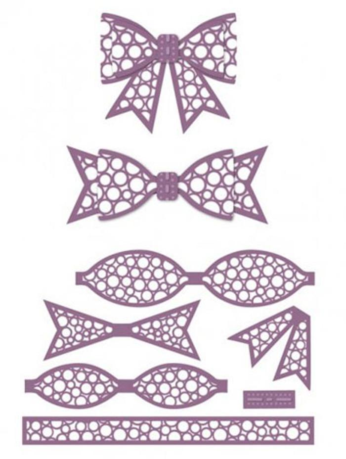 Sue Wilson - The Finishing Touches Collection - Dotty 3D Bow Dies CED1412 - Pre-Order 15% Off
