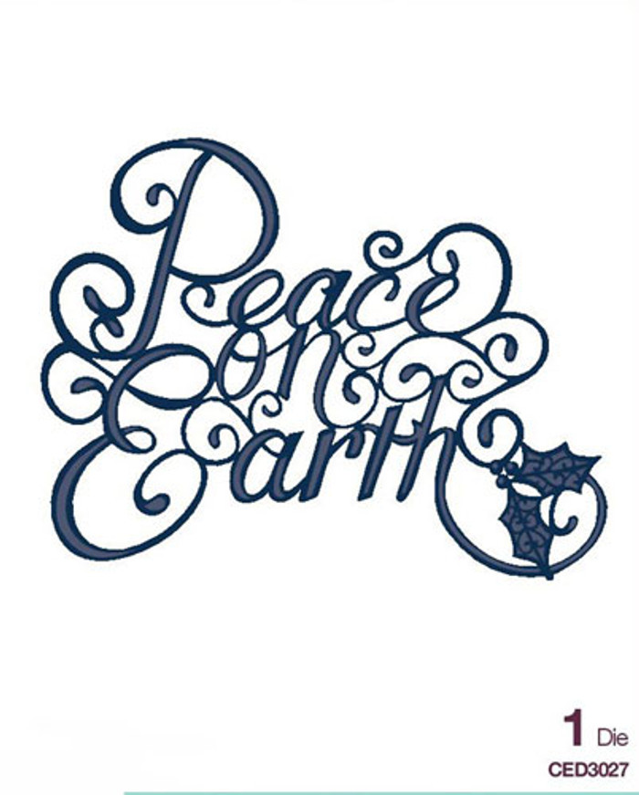 Sue Wilson - The Festive Collection - Peace on Earth Die CED3027 - Pre-Order 15% Off