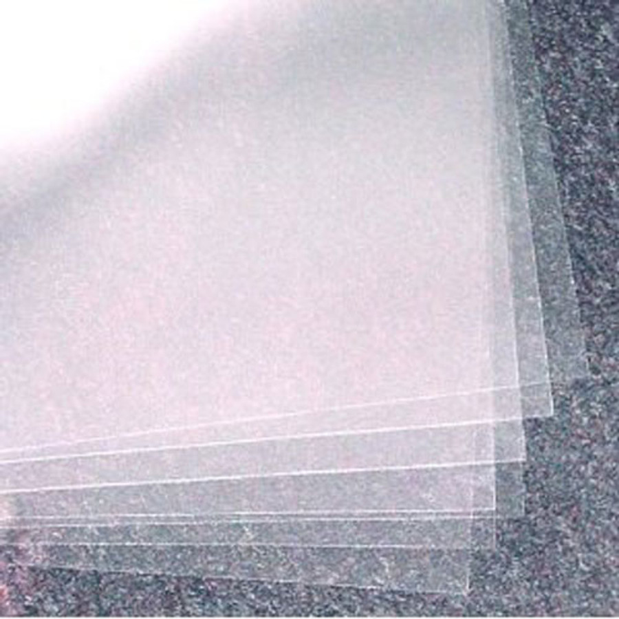 A4 Acetate (Clear Sheets) Pack 250mic - 5 sheets