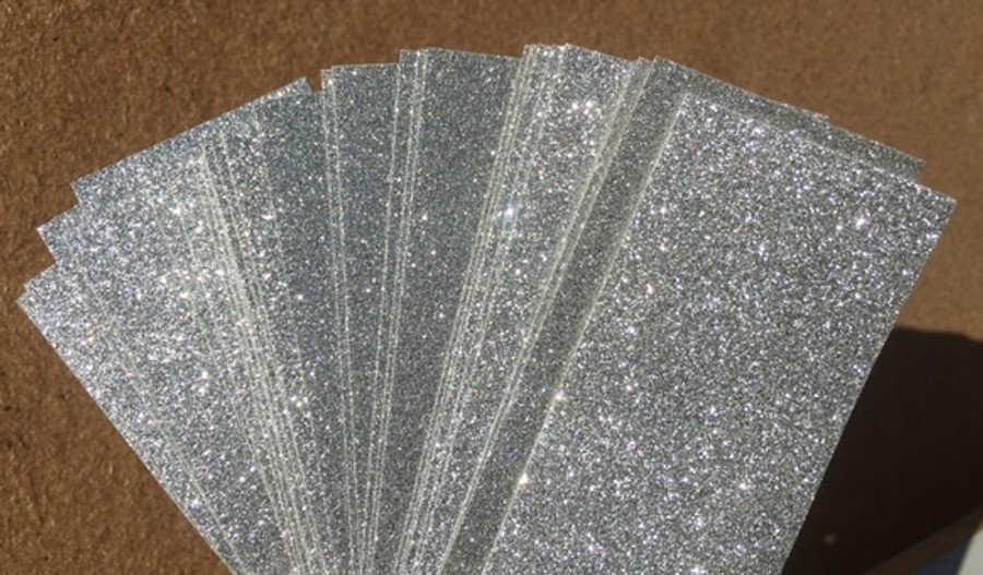Glitter Card  A4 (210 x 297mm) - SILVER Pack of 4