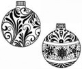 Sue Wilson Stamps To Die For - MINI BEADED FLOURISH & SNOWFLAKE BAUBLE UMS534 - 10% Off FREE POSTAGE Pre-Order