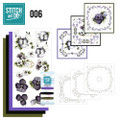 Stitch and Do 6  Card Embroidery Kit - Violets