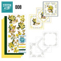 Stitch and Do 8 Card Embroidery Kit - Yellow Flowers