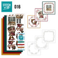 Stitch and Do 16  Card Embroidery Kit - Christmas