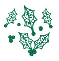 Sue Wilson - The Festive Collection - Filigree Holly CED3045 - Pre-Order 15% Off