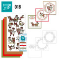 Stitch and Do 18  Card Embroidery Kit - Christmas Snowman & Reindeers