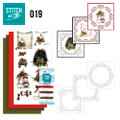 Stitch and Do 19  Card Embroidery Kit - Snowy Detail