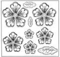 Sue Wilson Stamps To Die For - SHADED PEONY UMS633 - 10% Off FREE POSTAGE Pre-Order