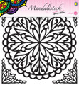 JeJe Peel-Off Sticker  -  Mandala #2 BLACK 190mm  3.9247