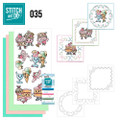 Stitch and Do 35 - Card Embroidery Kit - Cupcakes