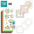 Stitch and Do 42 - Card Embroidery Kit - White Christmas Flowers