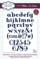 Sue Wilson - Expressions Collection Art Deco Alphabet Lower Case & Numbers Die CED5424 - Pre-Order 15% Off